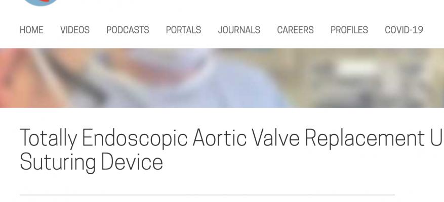 CTSNet τα πέντε δημοφιλέστερα βίντεο καρδιοχειρουργικής του 2020